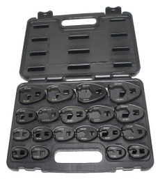 A-6900A-19M Crowfoot Wrench Set 19pcs 8-32mm 3/8″ 1/2″ Large Crows Foot Spanner